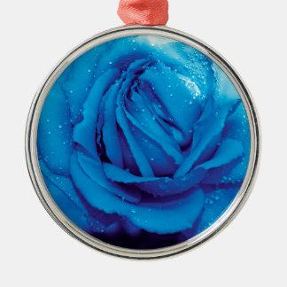 BLUE ROSE CHRISTMAS ORNAMENT
