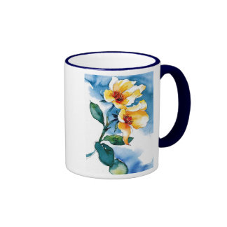 blue rose coffee mugs