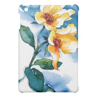 blue rose cover for the iPad mini