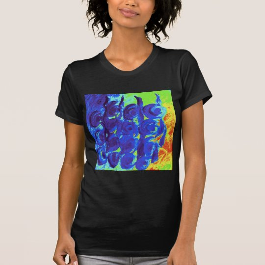Blue Rose Design T-Shirt
