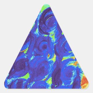 Blue Rose Design Triangle Sticker