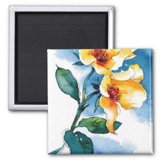 blue rose fridge magnet