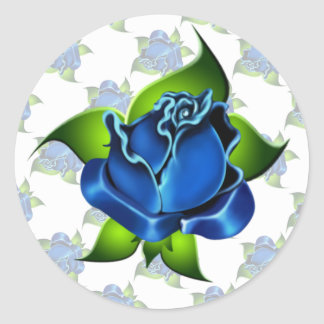 Blue Rose Gift Sticker