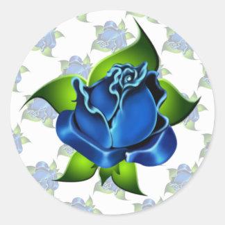 Blue Rose Gift Sticker