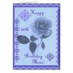 Blue rose: Happy Birthday Mom! Greeting Card