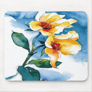 blue rose mouse pad