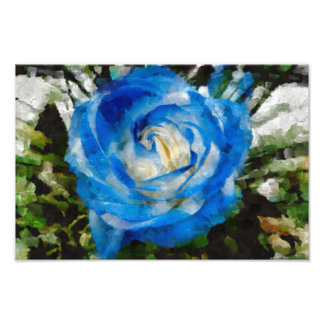 Blue rose painting photo print