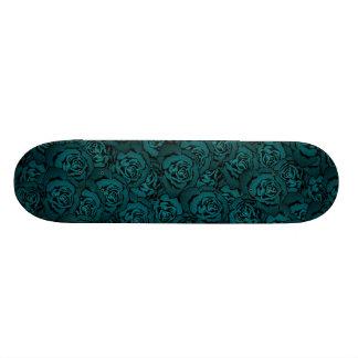 Blue Rose Pattern Custom Skateboard