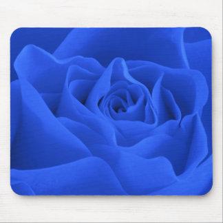 Blue Rose Petals Mouse Mat