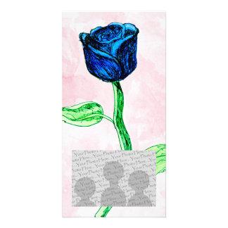 Blue Rose Photo Card