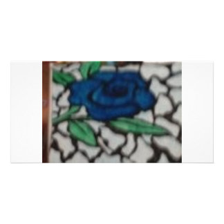 BLUE ROSE PICTURE CARD