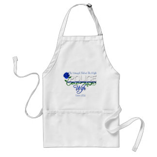 Blue Rose Police Wife Apron