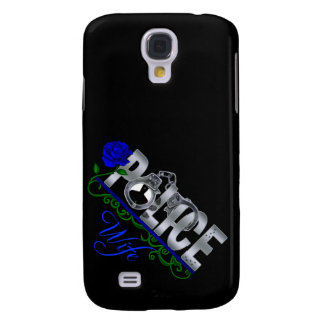 Blue Rose POLICE WIFE  Samsung S4 Case