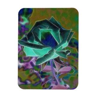 Blue Rose Rectangular Photo Magnet
