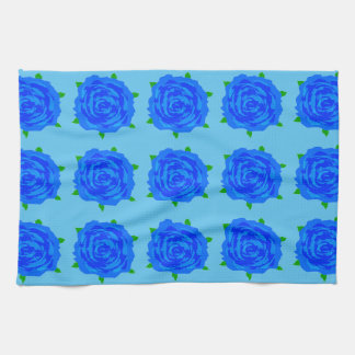 Blue Roses Kitsch on Kitchen Towel