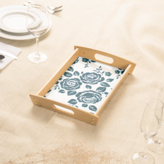 Blue-Roses-Retro -Serving_Vanity Tray