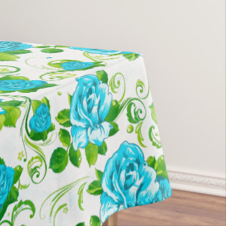 Blue Roses Tablecloth