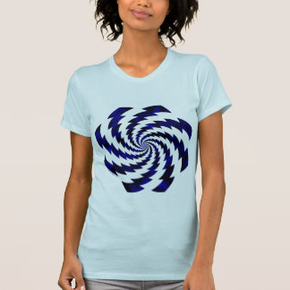 Blue rotating flashes tee