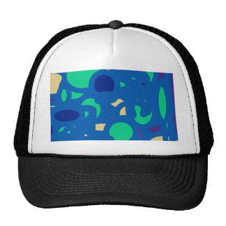 blue round happy go lucky cap