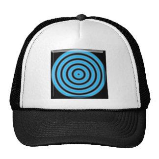Blue Round Image Cap