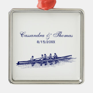 Blue Rowing Rowers Crew Team Water Sports Christmas Ornament