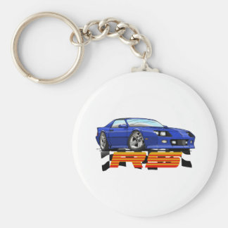 Blue_RS_3G Basic Round Button Key Ring