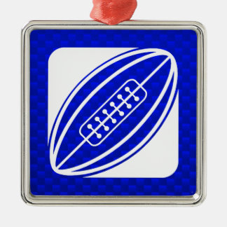 Blue Rugby Christmas Ornament