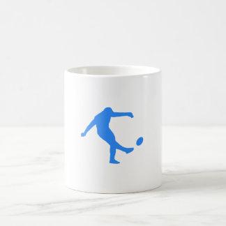 Blue Rugby Kick Coffee Mugs