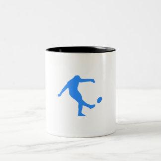 Blue Rugby Kick Mug