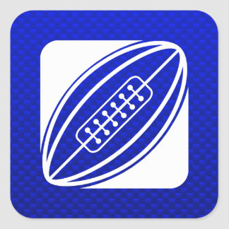 Blue Rugby Square Sticker