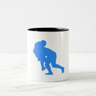 Blue Rugby Tackle Coffee Mug