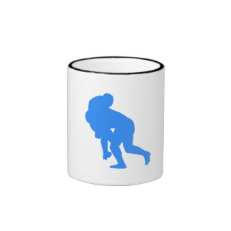Blue Rugby Tackle Mugs