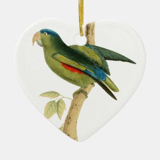 Blue-rumped Parrot Ceramic Heart Decoration