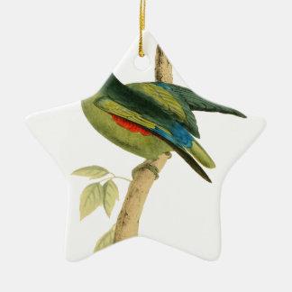 Blue-rumped Parrot Christmas Ornament