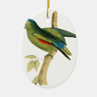 Blue-rumped Parrot Christmas Ornament