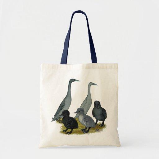 Blue Runner Duck Family Canvas Bag
