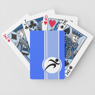 Blue Running Bicycle Playing Cards