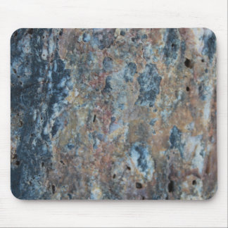 Blue Rust Black Mineral Texture Mouse Mat