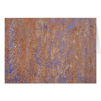 Blue Rust Card