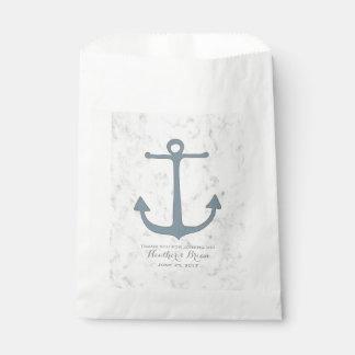 Blue Rustic Anchor Wedding Favour Bags