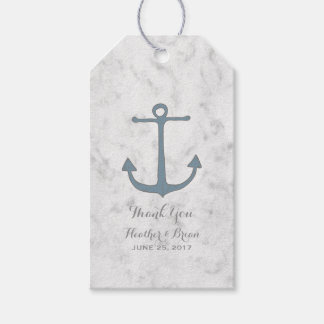 Blue Rustic Anchor Wedding Gift Tags
