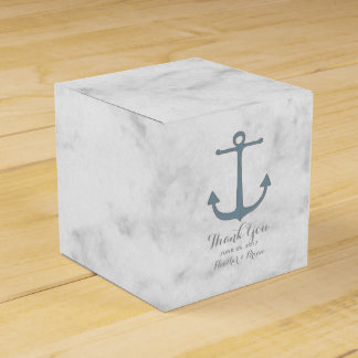 Blue Rustic Anchor Wedding Party Favour Box