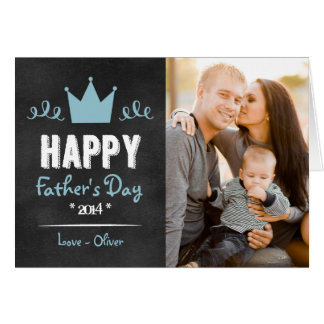 Blue Rustic Chalkboard Father's Day Card