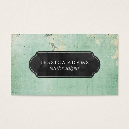 Blue Rustic Vintage Professional Business Card