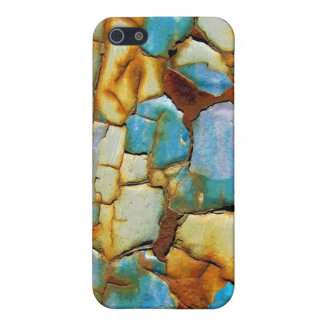 Blue Rusty Chipping Paint Case For iPhone 5/5S