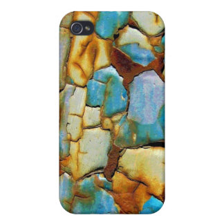 Blue Rusty Chipping Paint iPhone 4 Covers