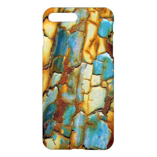 Blue Rusty Chipping Paint iPhone 7 Plus Case