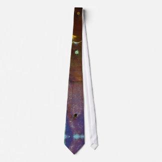 Blue rusty grunge style tie