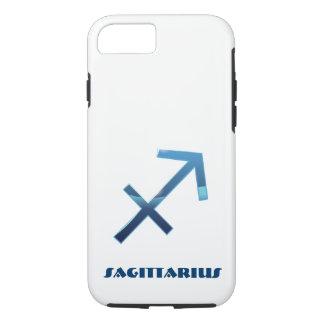 Blue Sagittarius Zodiac Sign On White iPhone 8/7 Case