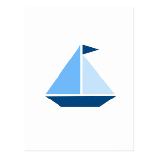 Blue Sail Boat Post Cards